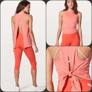 Lululemon All Tied Up Tank in Coral Pink